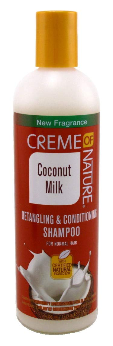 Creme Of Nature Coconut Milk Detangling Shampoo 12 Ounce (Pack of 3)