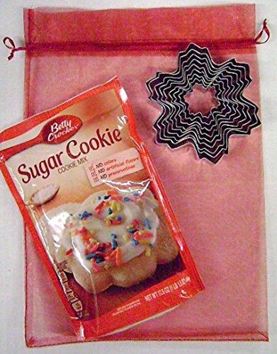 Apilamiento/copo de nieve árbol de Navidad cortadores de galletas con Betty Crocker galleta de azúcar Mix