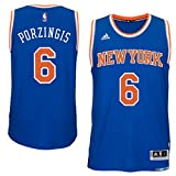 Kristaps Porzingis New York Knicks Blue Adidas Swingman Jersey (Large)