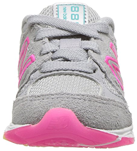 New Balance Girls' 888v1 Running Shoe, Silver Mink/Rainbow, 6 W US Big Kid by New Balance (Image #4)