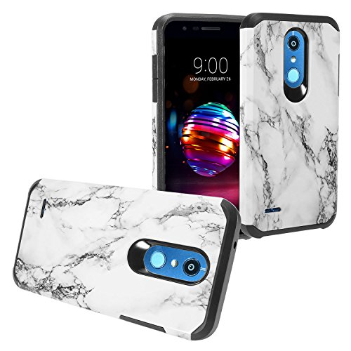 (Eaglecell - LG K30 LM-X410, Phoenix Plus, Xpression Plus, Harmony2, Premier Pro LTE L413DL - Hybrid Image Hard Case - White Marble)