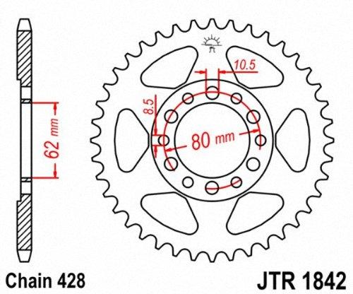 JT Sprockets JTR1842.45 45T Steel Rear Sprocket