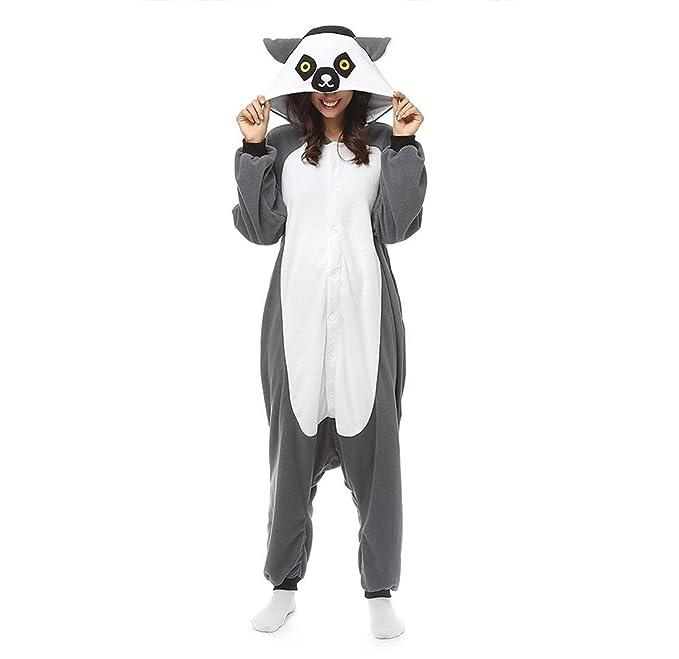 WRH Unisex Pijamas Traje Cosplay Animal kigurumii Onesie Ropa de dormir para las mujeres Hombres Adultos