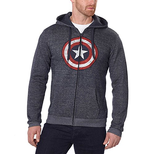 Captain America Star - M Mens Batman/Star War/Captain America/Deadpool Hooded Sweatshirt (Captain America