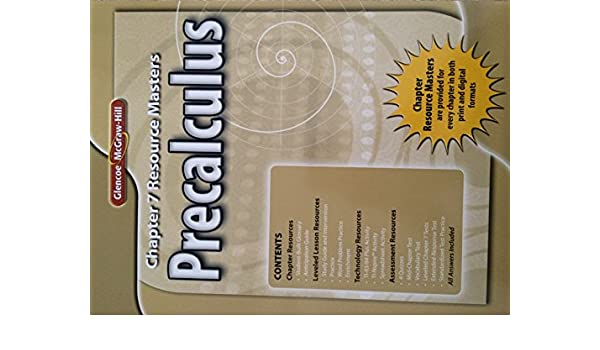 Glencoe Precalculus Chapter 7 Resource Masters: 9780078938085 ...