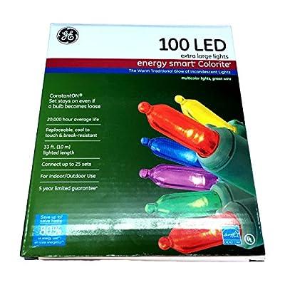 GE Energy Smart 7mm LED Christmas Lights, Multi-Color, 100ct