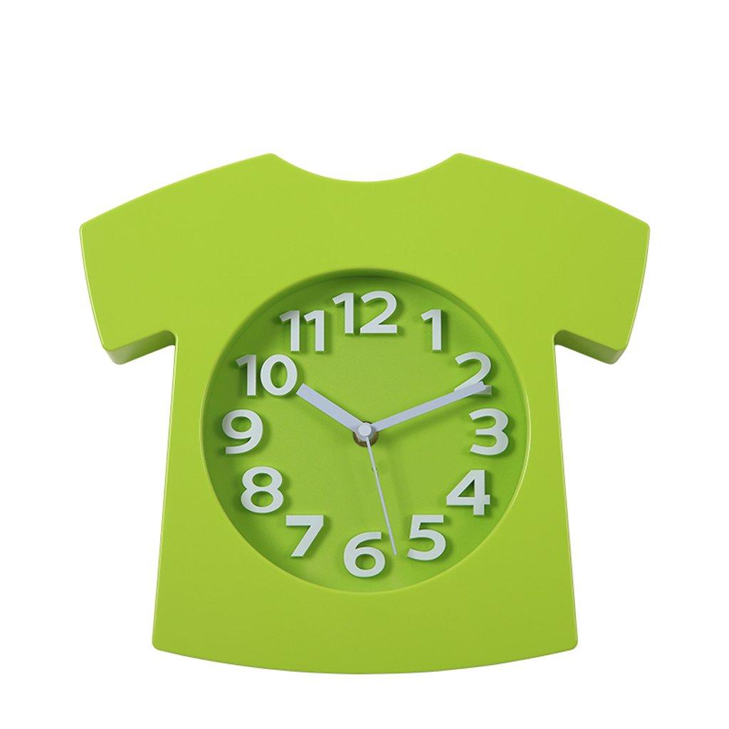 Unbekannt FANJIANI Kreative Cartoon Mute Wanduhr Kinderzimmer gewidmet Uhr zu sehen (Farbe : Grün)