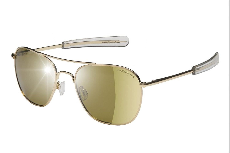 91f24153f0f chic Eagle Eyes Celebrity Aviator Green Flash Mirror Polarized Sunglasses