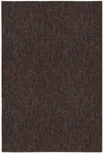 Ambiant Broadway Collection Pet Friendly Indoor Outdoor Area Rugs Chocolate – 9 x12