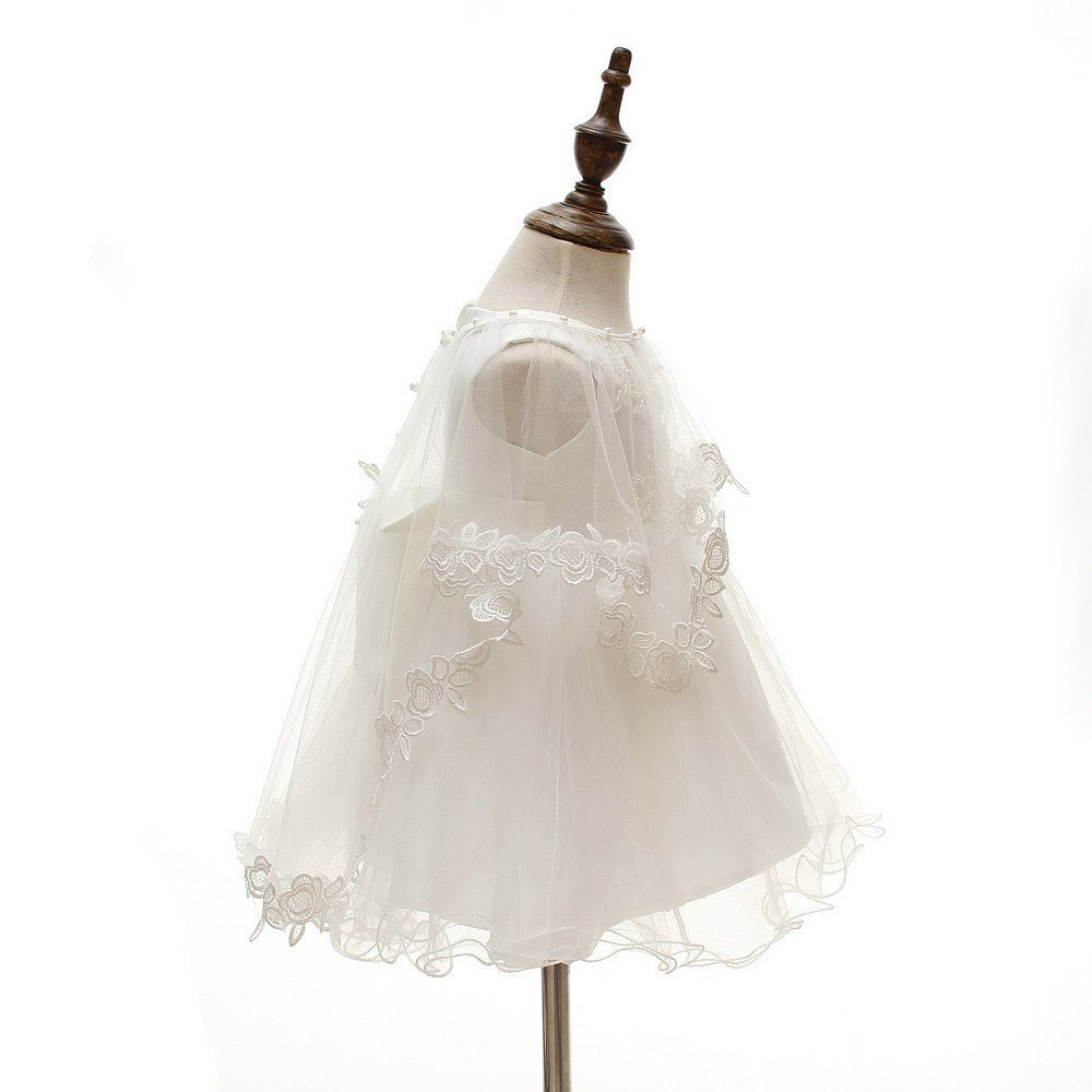 3Pcs Set Baby Girl Dress Christening Baptism Gowns Formal Dress