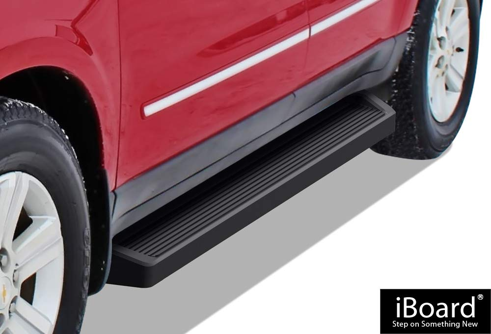 iBoard Black Running Boards Style Custom Fit 2007-2017 Chevy Traverse /& 2007-2010 Saturn Outlook /& 2007-2009 Buick Enclave Nerf Bars | Side Steps | Side Bars