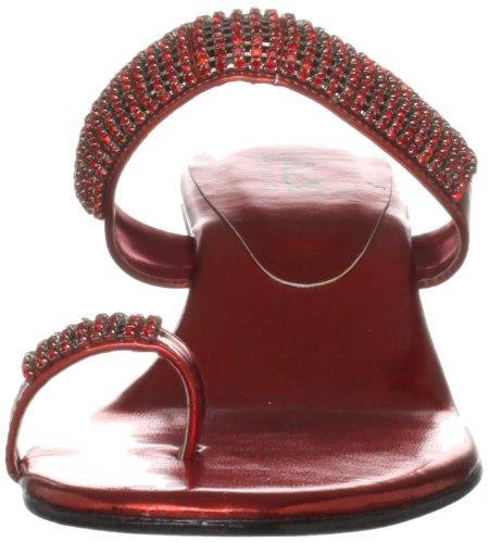 Unze Evening Sandals L18365W - Sandalias para mujer Rojo