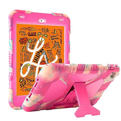 iPad Mini 5 Case 2019 iPad Mini ACEGUARDER Full Body Protective Premium Soft Silicone Cover with Adjustable Kickstand (Candy)