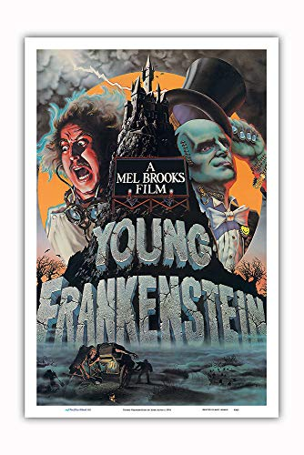 Pacifica Island Art - Young Frankenstein - Starring Gene Wilder - Directed by Mel Brooks - Vintage Film Movie Poster by John Alvin c.1974 - Master Art Print - 12in x 18in ()