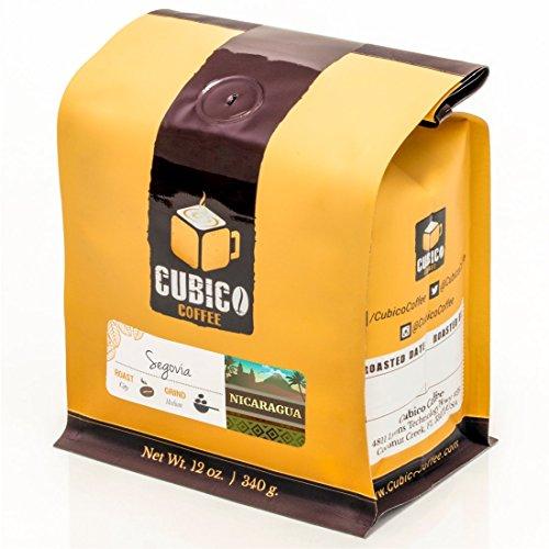 Nicaragua Coffee - Ground Coffee - Freshly Roasted Coffee - Cubico Coffee - 12 Ounce (Single Origen Organic Segovia Nicaraguan Coffee)