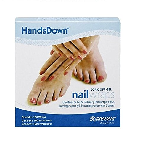 Graham Medical 60906 Hands Down Nail Wrap, 1'' Width, 4'' Length, White (Pack of 1000)