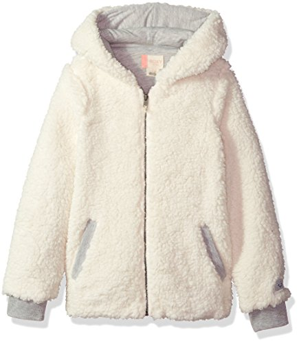 Roxy Big Girls' Fashion Sherpa Sweatshirt, Marshmallow, 12/L (Roxy Apparel)