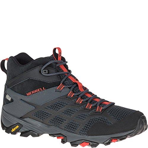 Merrell Men's Moab FST 2 MID Waterproof Hiking Shoe, Black/Granite, 10.0 M US