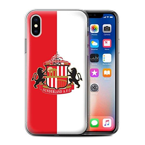 Officiel Sunderland AFC Coque / Etui Gel TPU pour Apple iPhone X/10 / Rouge/Blanc Design / SAFC Crête Club Football Collection