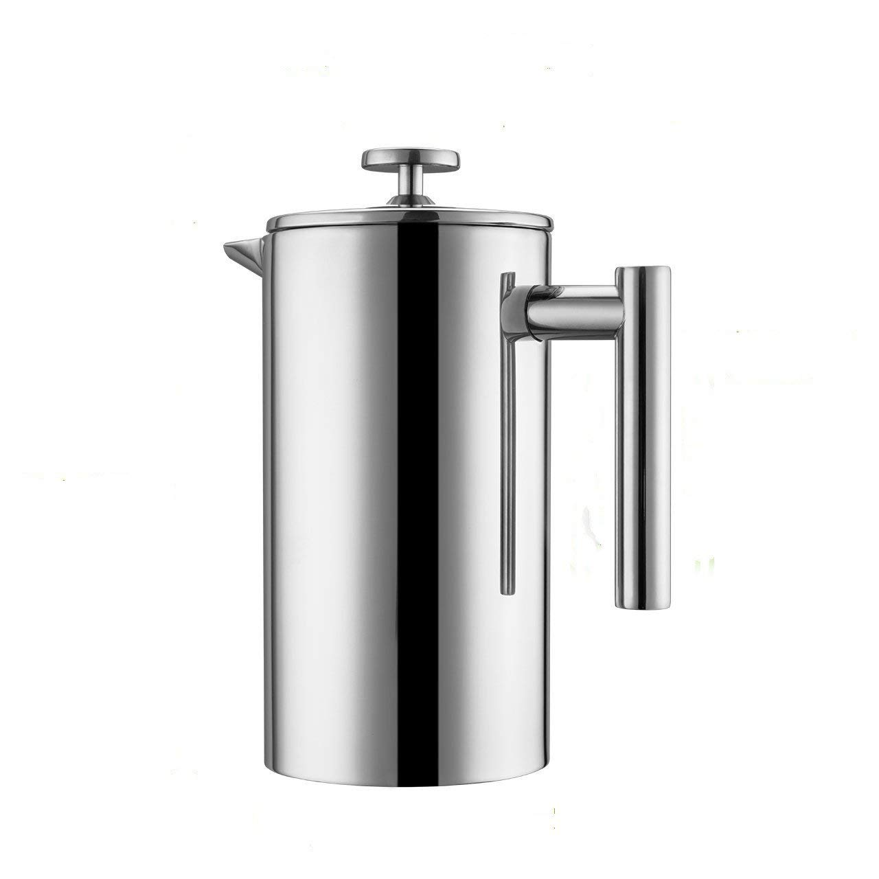 French Press, 1.5L Coffee Maker Double Wall Stainless Steel 50 OZ Coffee Press Cafetiere, Extra 2 Filters Included