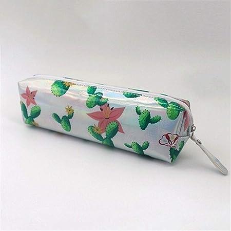 Estuche holográfico Iridiscente for niñas Boy PU Útiles Escolares Papelería Regalo Caja de lápices Linda Bolsa de lápices Estuxhes (Color : M): Amazon.es: Hogar