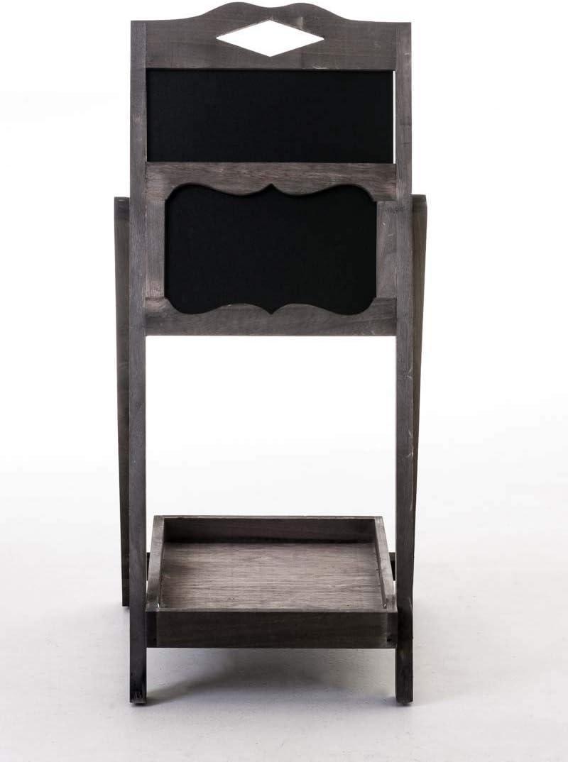 Marr/ón Oscuro CLP Expositor Estanter/ía Tipo Escalera Patrick I Mueble Decorativo con Pizarra /& un Estante I Estanter/ía Escalera Plegable I Color