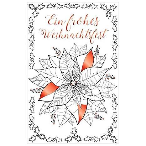 Stella Di Natale Da Colorare.Susy Card 40014043 Biglietto Di Auguri Di Natale 17 X 11 X 0 1 Cm