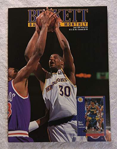 Billy Owens - Golden State Warriors - Beckett Basketball Monthly Magazine - #23 - June 1992 - Back Cover: Shaquille O'Neal & Christian Laetner (LSU & Duke)