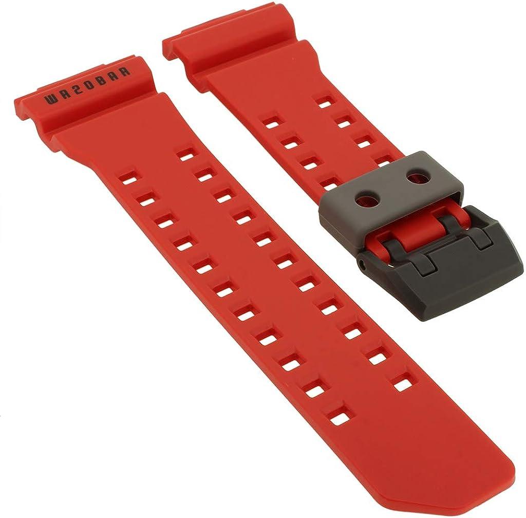 Casio G-Shock GA-400-4B > GA-400 - Correa de repuesto para reloj de pulsera, color rojo
