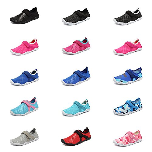 Fantiny Boys & Girls Water Shoes Lightweight Comfort Sole Easy Walking Athletic Slip on Aqua Sock(Toddler/Little Kid/Big Kid) DKSX-Pink-33 by CIOR (Image #7)