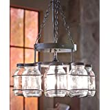 wrought iron canning jar chandelier