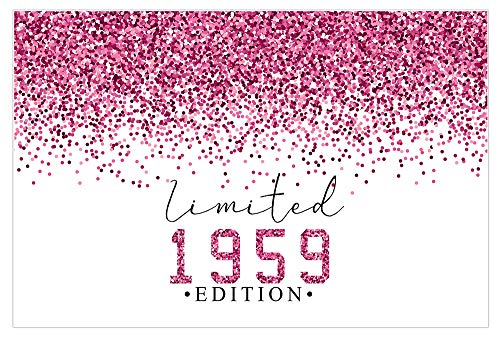 Limited Edition Pink Glitter 60th Birthday 1960 Wall Art Poster