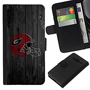 EJOY---La carpeta del tirón la caja de cuero de alta calidad de la PU Caso protector / Samsung Galaxy Core Prime / --Gladiador Equipo deportivo