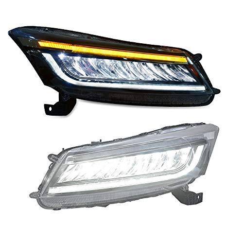 2PCS Headlight Assemblies For Honda Accord 2008-2012 Bi-Xenon Lens Projector Double Beam Xenon HID KIT With LED Daytime Running - Xenon Bi Assembly