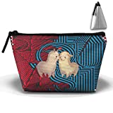Cute Llamas Couple Camping Home Tote Lightweight Luggage Organizers