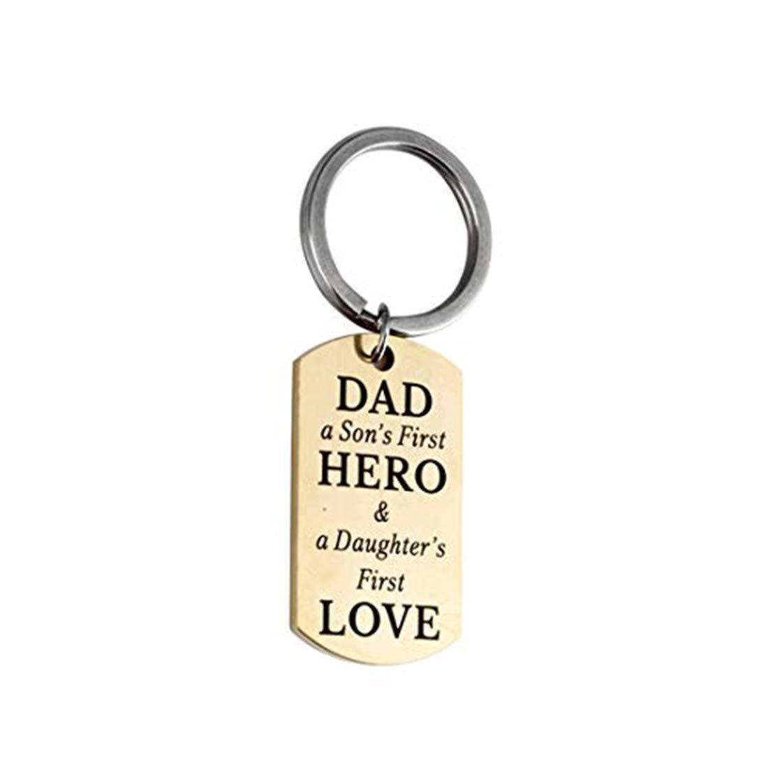 Schlüsselanhänger mit AufschriftFather Son's First Hero Daughter's First Love FDGJKGDHLD ERG