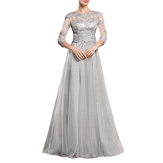 884ae873b5 Women s Vintage Bridesmaid Dresses Elegant 2 3 Sleeves Floral Lace Tulle Evening  Cocktail Prom Ball