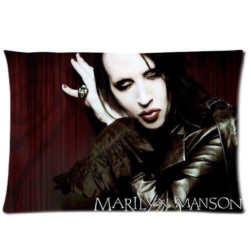 Marilyn Manson Custom Pillowcase Standard Size 20x30 lonlshopggo