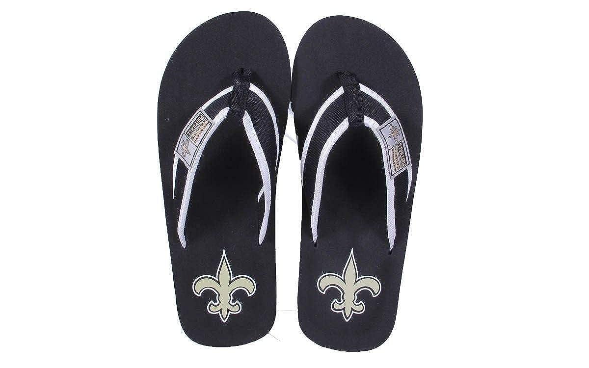 Officially Licensed NFL Contour Flip Flop NOSCTRP-4 XL New Orleans Saints
