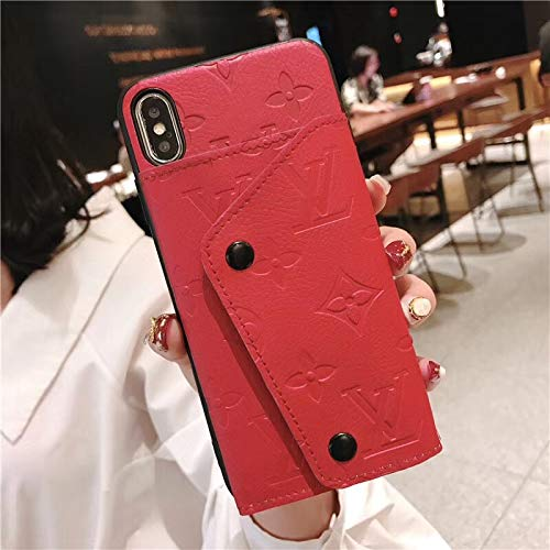 iPhone6/6s Plus Wallet Case, US Fast Delivery Classic Pattern Luxury Leather Detachable Cover Case iPhone6 Plus, iPhone6s Plus Red