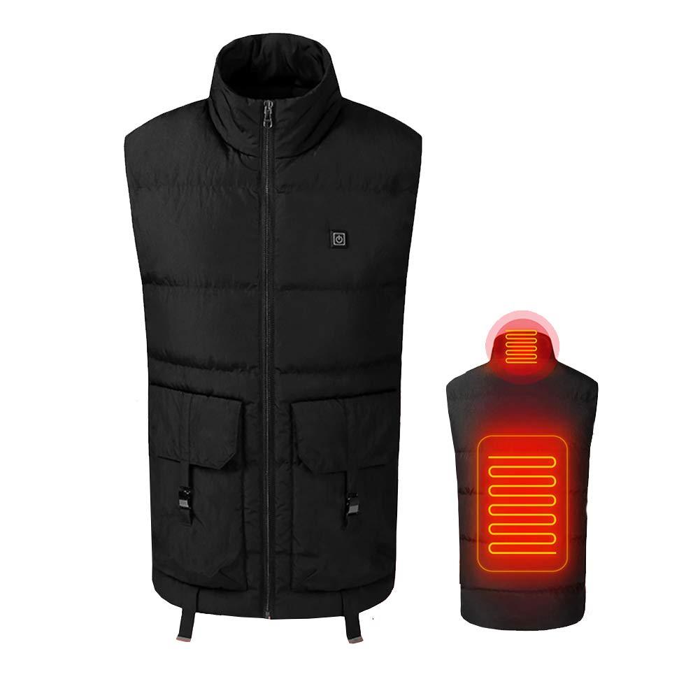 Heatile Beheizte Weste USB-Schnittstelle Schnelle Erhitzung 3 Temperatureinstellungen Passt Winter ski Wandern Camping Angeln (Enthält Keine Batterie)