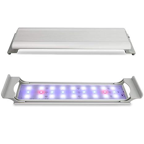 GOOBAT LED Acuario iluminación de 30 cm, Acuario LED Lámpara Luz de luz de la