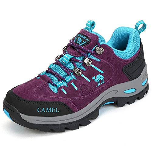 Camel Crown Womens Water Resistant Hiking Boot,Purple,7.5 B(M) US by Camel Crown