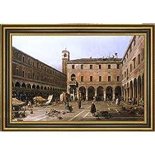"""Canaletto Campo di Rialto - 16.25"""" x 24.25"""" Framed Premium Canvas Print"""
