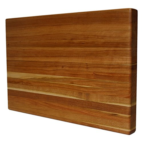 Kobi Blocks Cherry Edge Grain Butcher Block Wood Cutting Board 18'' x 26'' x 1'' by Kobi Blocks