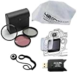 Zeikos ZE-FLK58 58mm Multi-Coated 3 Piece Filter Kit (UV-CPL-FLD) + 42nd Steet Photo Micro Fiber Cleaning Cloth + LCD Screen Protector + Cap Keeper + USB High Speed SD Reader