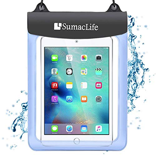 7-10.5 inch Universal Waterproof Case Tablet Dry Bag Pouch Protective Shock Snow Dust Proof Case Cover for Amazon Fire HD 10 / Fire HD 8 / Fire 7 / Fire 7 Kids Edition Fire Tablet with Alexa (Kindle Fire Hdx 7 Cases For Kids)