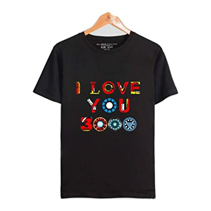 HA73 T Shirt I Love You 3000 Pattern Felpa Leggera Super