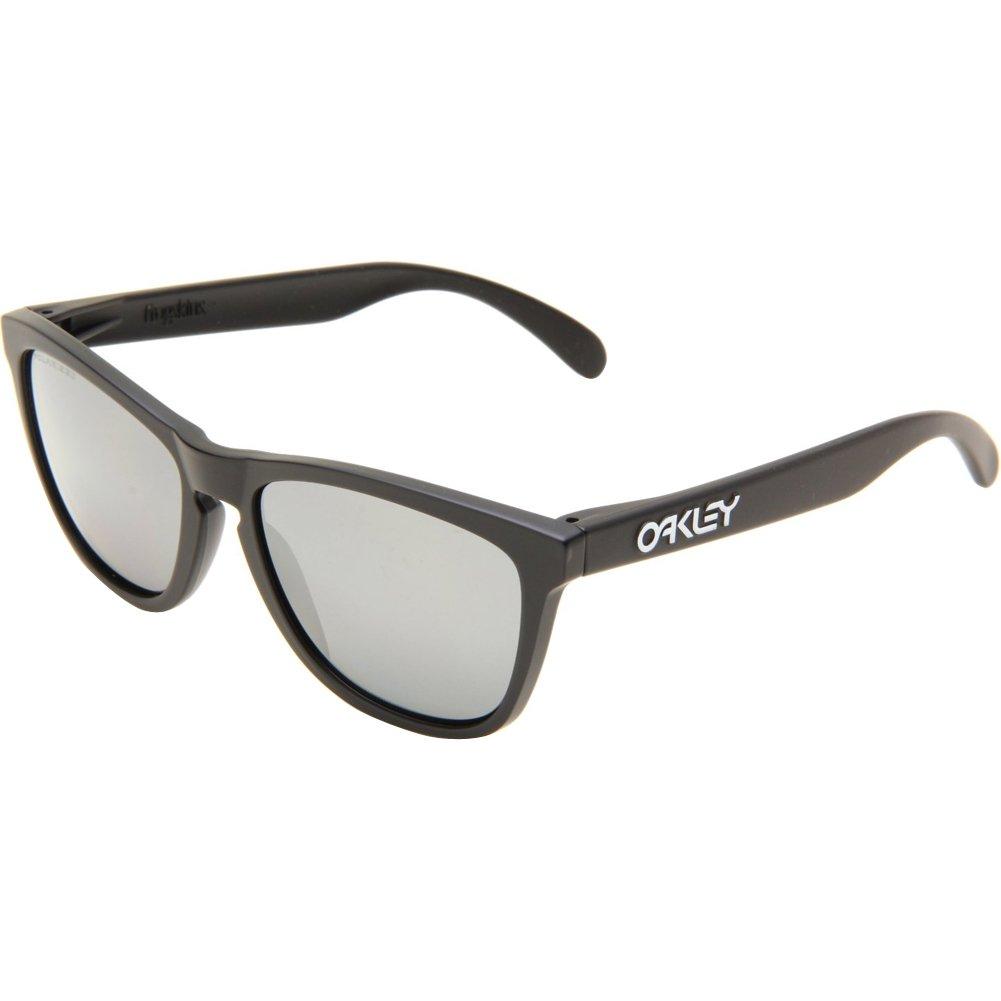 TALLA 55. Oakley Gafas de sol Frogskin Matte Negro Negro Iridium Polarized
