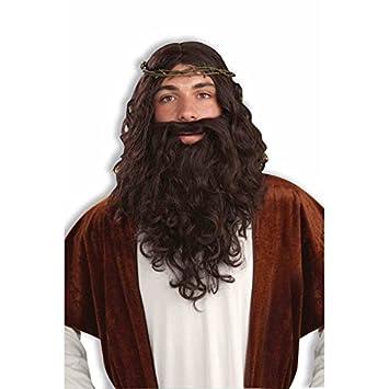 Générique pe162 – Set Jesús – Peluca + barba + CORONA de Epines – Talla única